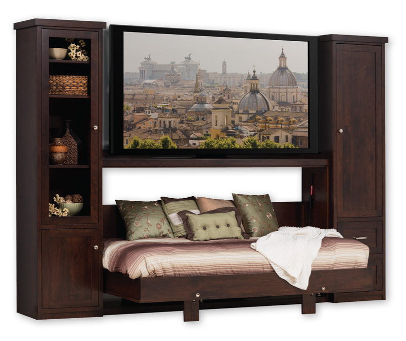 Space Saving Wall Bed and Entertainment Center in Solid  : Berkville open from www.ohiohardwoodfurniture.com size 800 x 671 jpeg 190kB