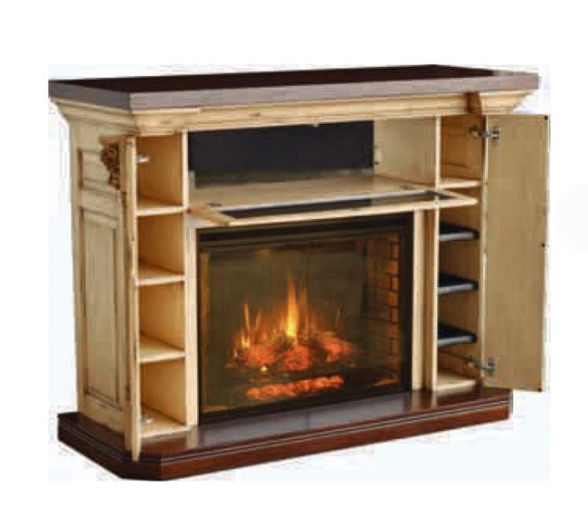 Serenity Fireplace And Entertainment Center Ohio Hardwood Furniture