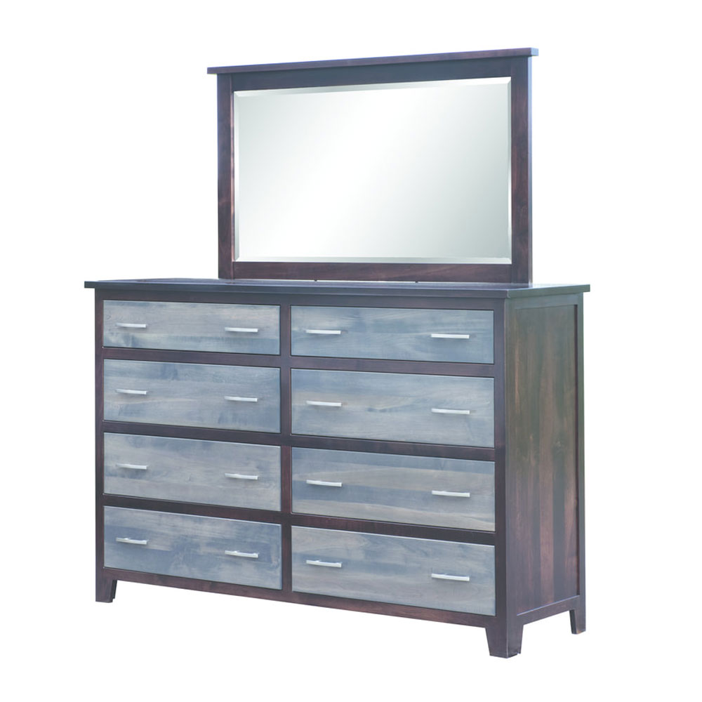 Urban Cottage 8 Drawer Dresser and Landscape Mirror