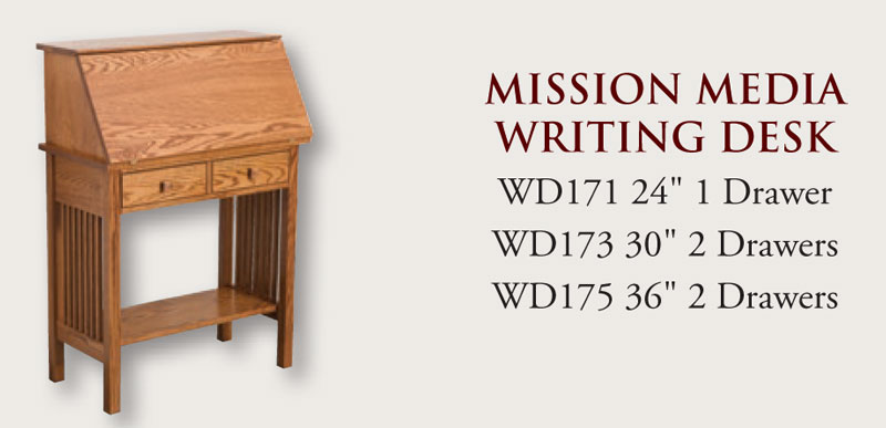 Mission writing desk ohio hardwood furniture