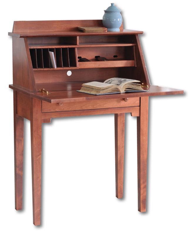 Shaker Media Writing Desk Ohio Hardwood Furniture