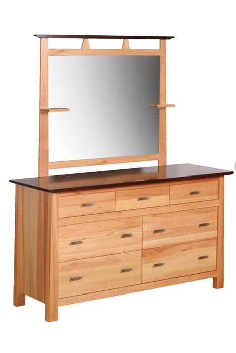 Olbrich Gardens 7 Drawer Dresser with Mirror