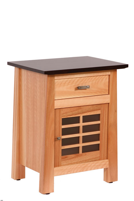 Olbrich Gardens 1 Drawer with Door Nightstand