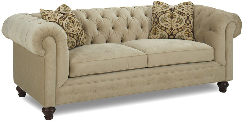 Chesterfield Sofa 7500 86 With An Heirloom Finish And Eli Quartz Fabric The Throw