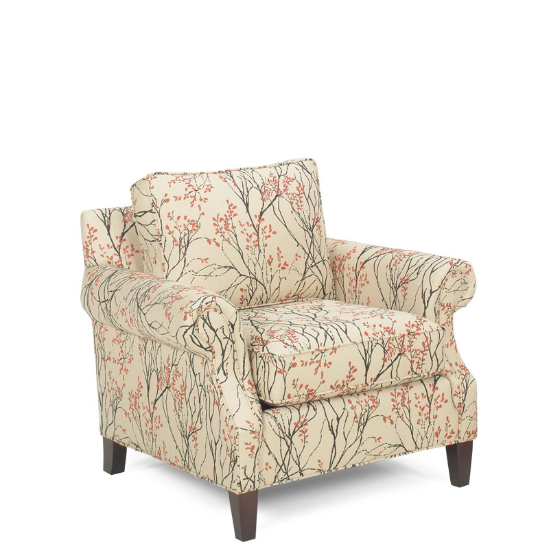 Harper Chair 5305 With An Heirloom Finish And Myla Cherry Fabric