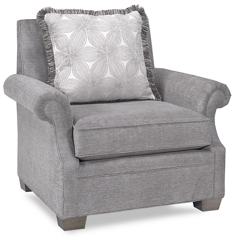 Preston Chair 15295 In Tonaltex Greystone Fabric And Urbanite Finish. Throw  Pillow Shown In Ellery