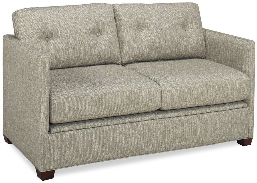 Volt 27700 60 B Button Back Sofa Shown In Lucerne Pebble Fabric With A