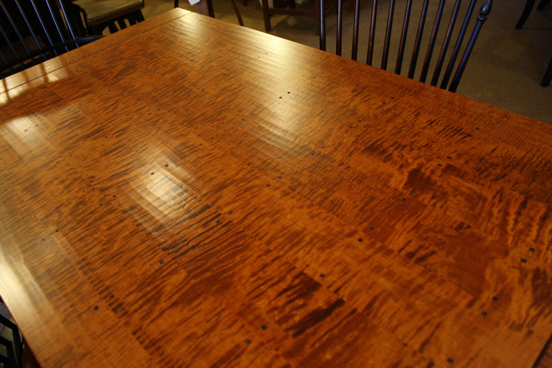 Tiger Maple Top For The Gladstone Draw Leaf Table