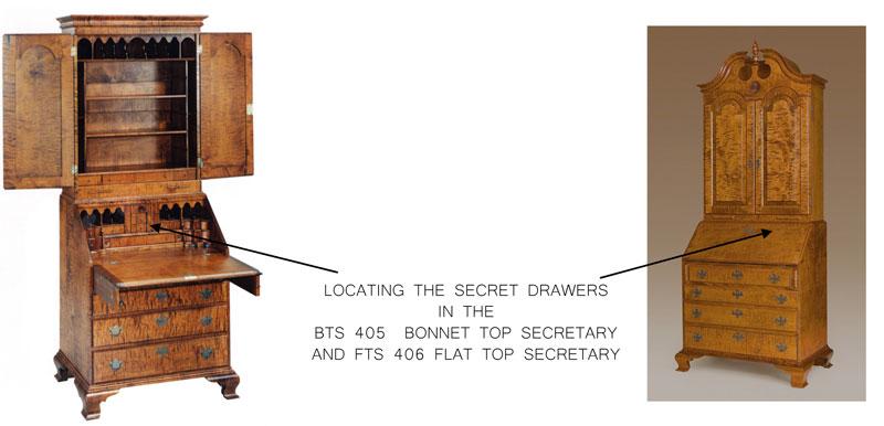 Bonnet Top Secretary Desk