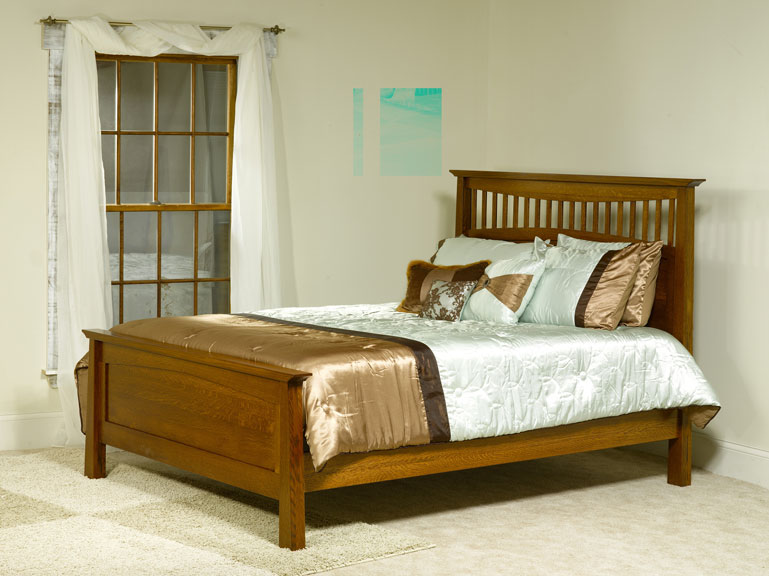 Bow Ridge Mission Bed with Low Footboard