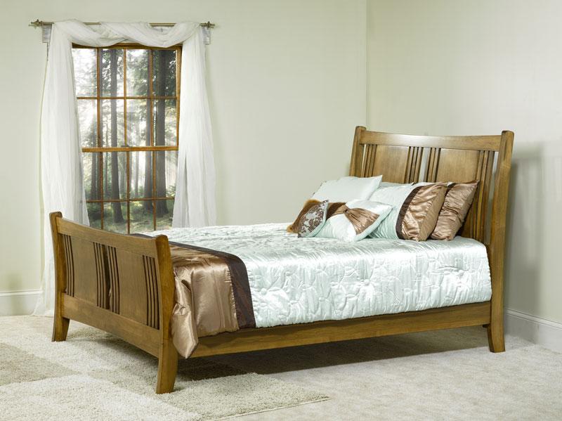 Granville Sleigh Bed Ohio Hardword Upholstered Furniture