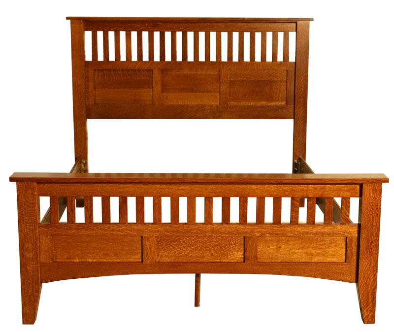 Mission Antique Bed Ohio Hardwood Upholstered Furniture