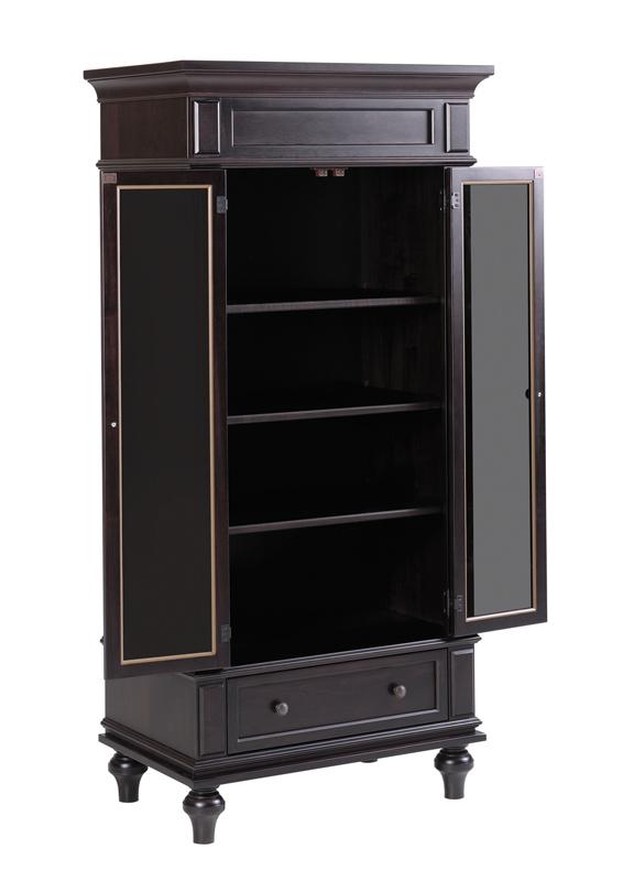walton hills armoire with glass in door ohio hardword. Black Bedroom Furniture Sets. Home Design Ideas