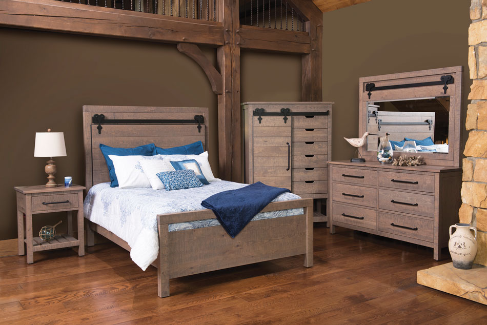 Liberty Bedroom Collection in Rustic Quartersawn White Oak