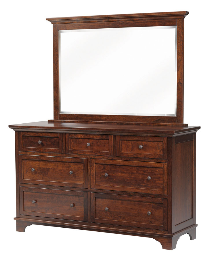 Redington Dresser With Flip Out And Beveled Mirror (sold Separately) Shown  In Rustic Cherry