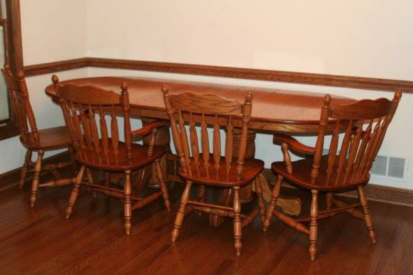 used dining room table and chairs dining table used oak