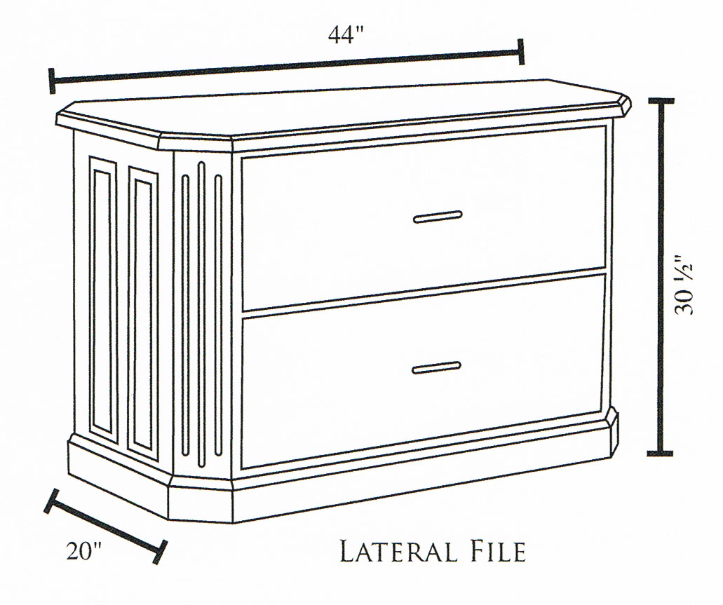 Fifth Avenue 2 Drawer Lateral File Cabinet Dimensions