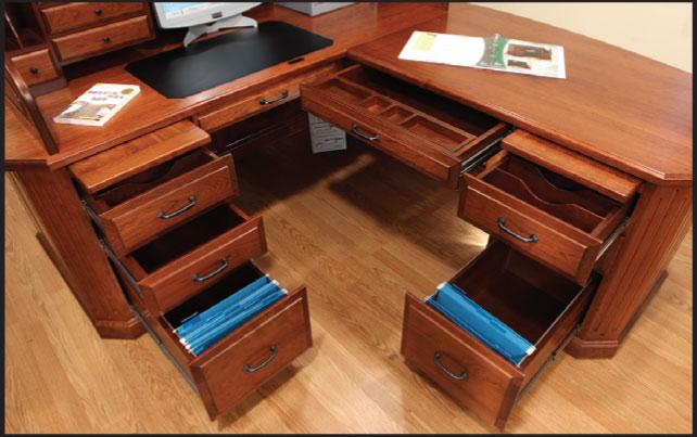 reputable site 0526f de5ba Fifth Avenue Executive Corner Desk - Ohio Hardwood Furniture
