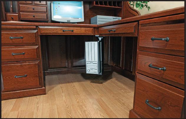 Fifth Avenue Executive Corner Desk Ohio Hardwood Furniture