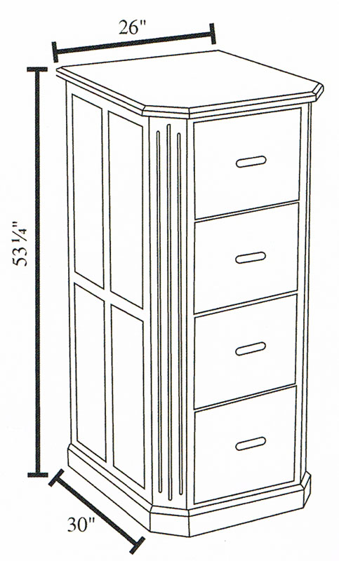 4-Drawer Dimensions