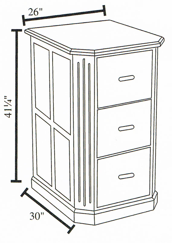 3-Drawer Dimensions