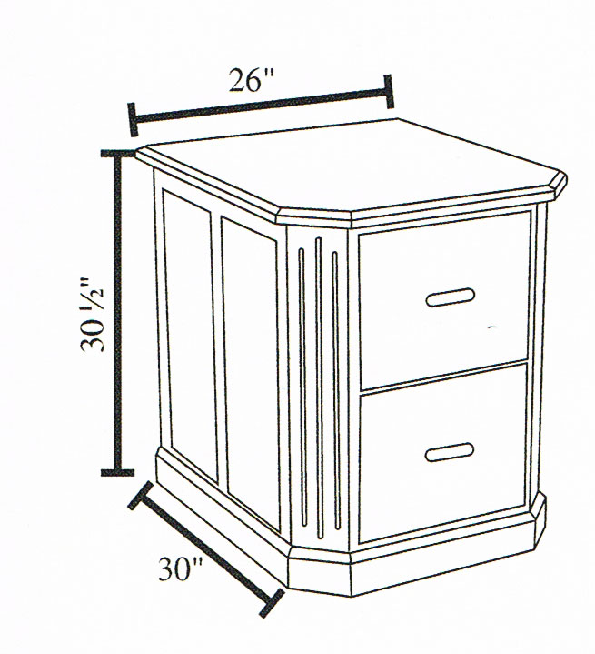 2-Drawer Dimensions