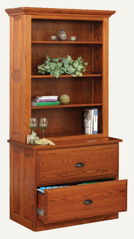 2-Drawer Lateral File Cabinet and Hutch (Sold Separately)