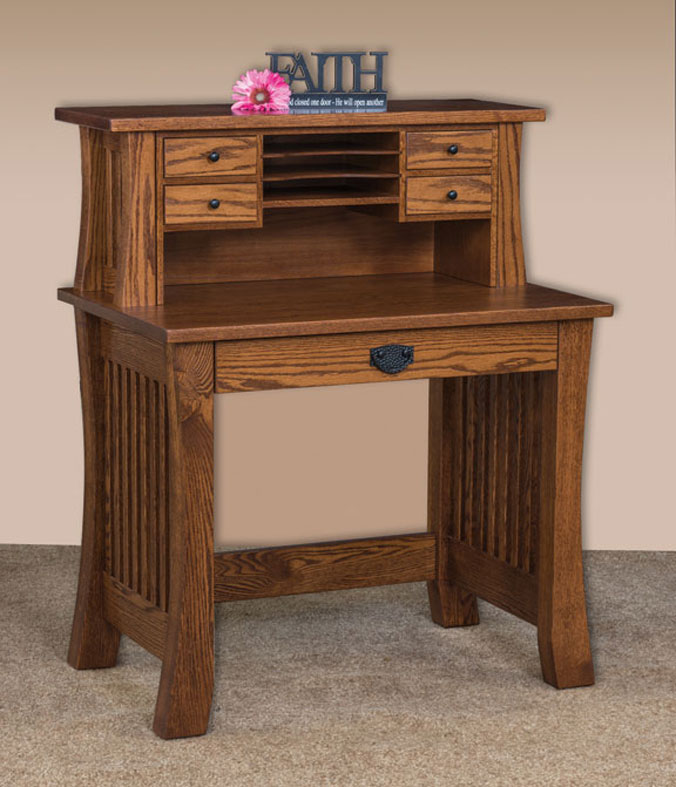 Liberty 36 Deluxe Writing Desk In Oak With An Ocs 113 Michaels Stain