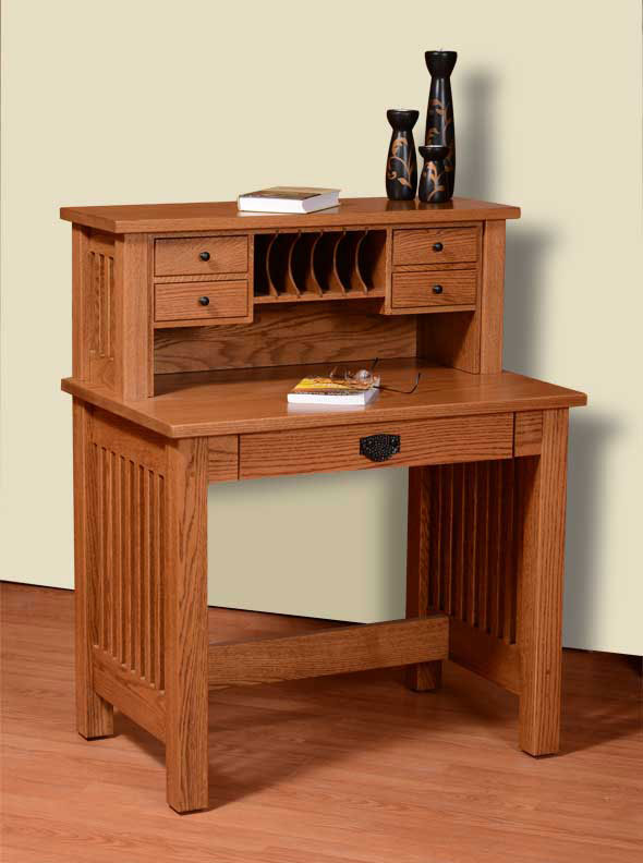 Mission valley inch deluxe writing desk ohio hardwood