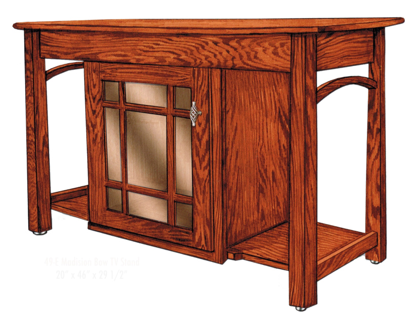 Madison Bow TV Stand