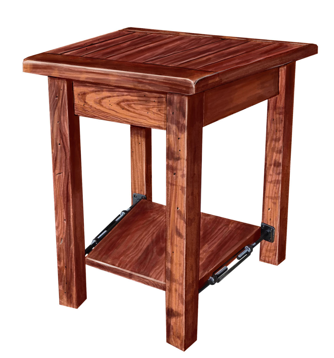 Bayfield Large Wedge End Table