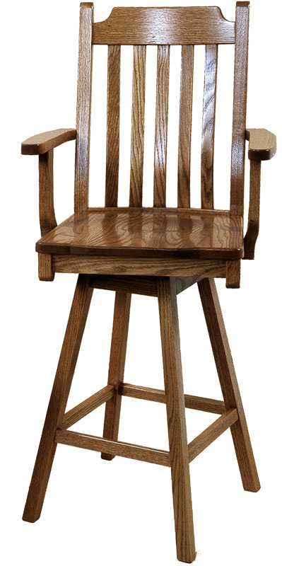 30 inch Mission Swivel Barstool