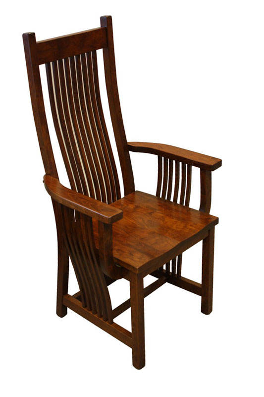 Legendary Arm Chair In Cherry With Michaelu0027s Cherry Stain And Wood Seat