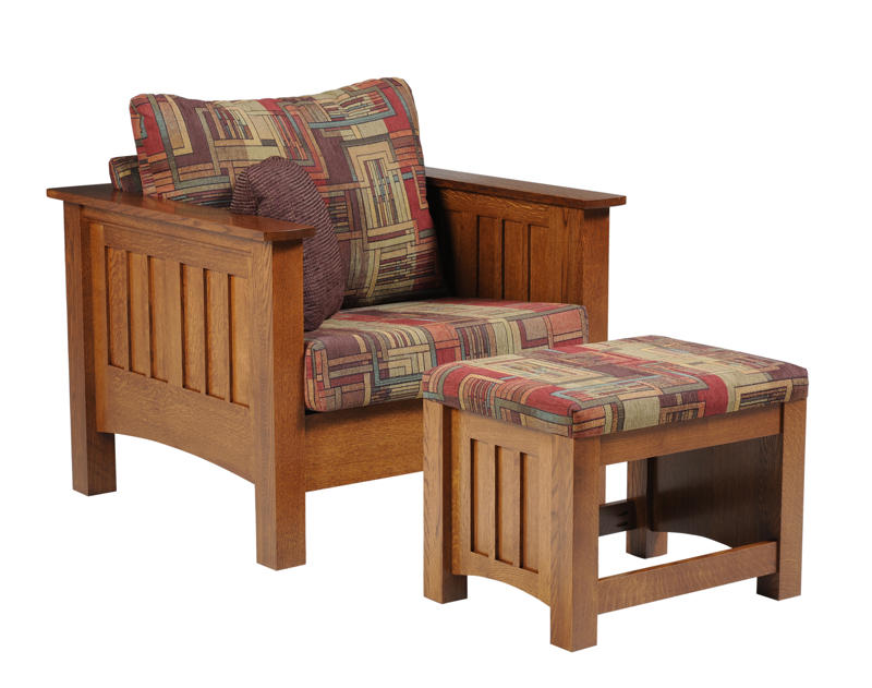 Merveilleux Mission Seating Chair And Mission Ottoman (sold Separately)