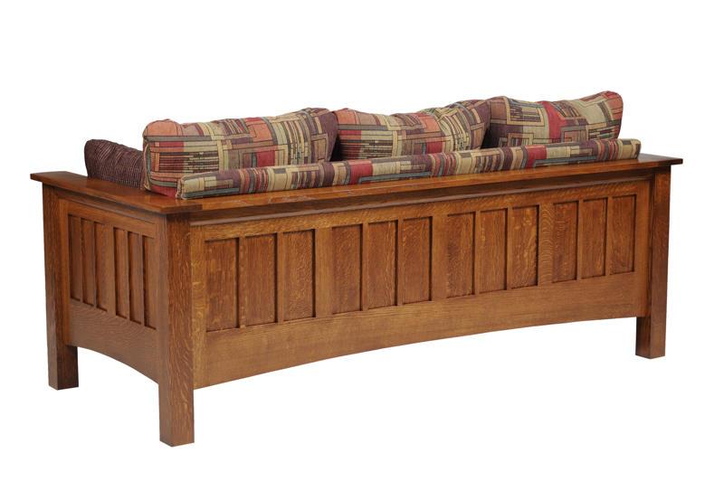 Mission Seating Sofa In Solid Hardwood Ohio Hardwood