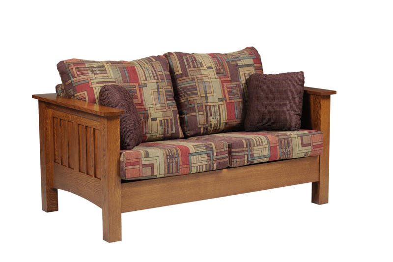 Mission Seating Loveseat In Solid Hardwood Ohio Hardwood