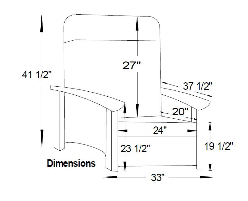Mission Seating 6410 Recliner Dimensions