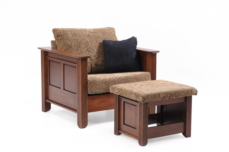 Arlington Chair and Ottoman in Fabric (sold separately)