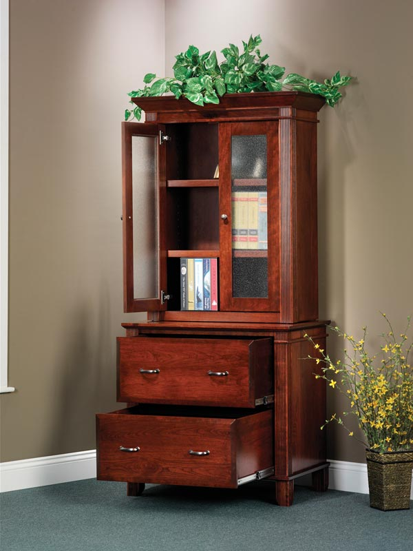 Arlington Lateral File Cabinet and Hutch