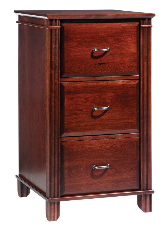 Arlington Large 3-Drawer File Cabinet In Solid Hardwood