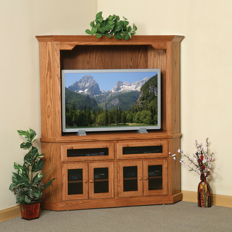 Corner Entertainment Center In Solid Hardwood Ohio