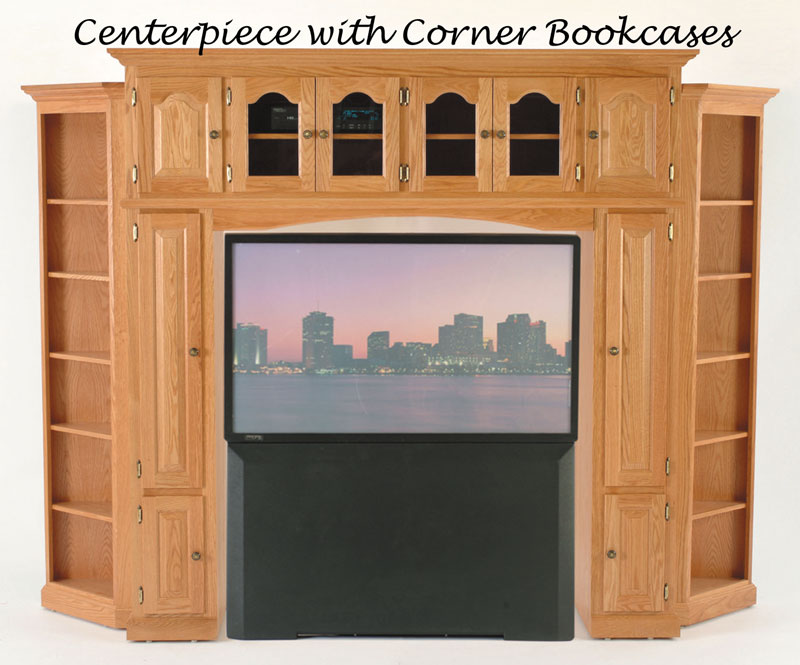 Center With Corner Bookcases