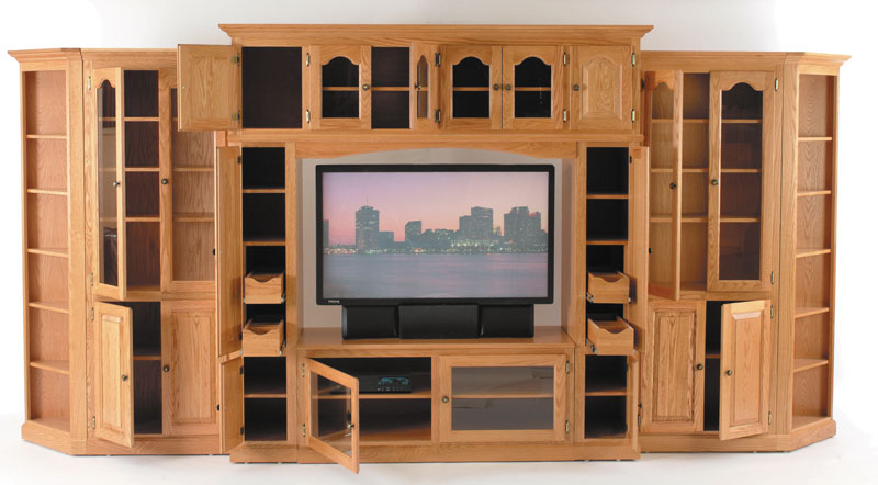 Modular Entertainment Center - Ohio Hardwood Furniture