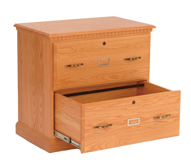 heirwood 2 drawer lateral file cabinet in solid hardwood - ohio 2 drawer lateral file cabinet