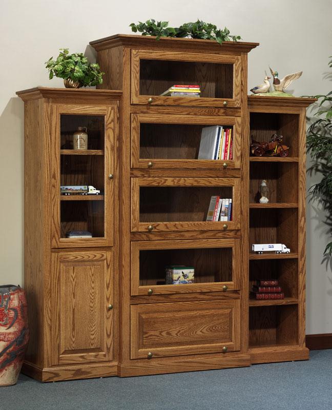 The Downing Street Executive Curio Desk: Ohio Hardwood & Upholstered Furniture