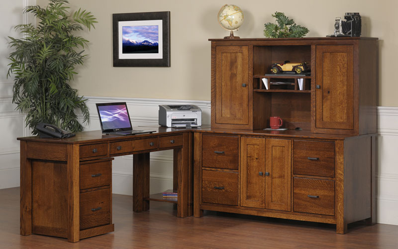 Mission Modular Corner Table in Solid Hardwood Ohio Hardwood