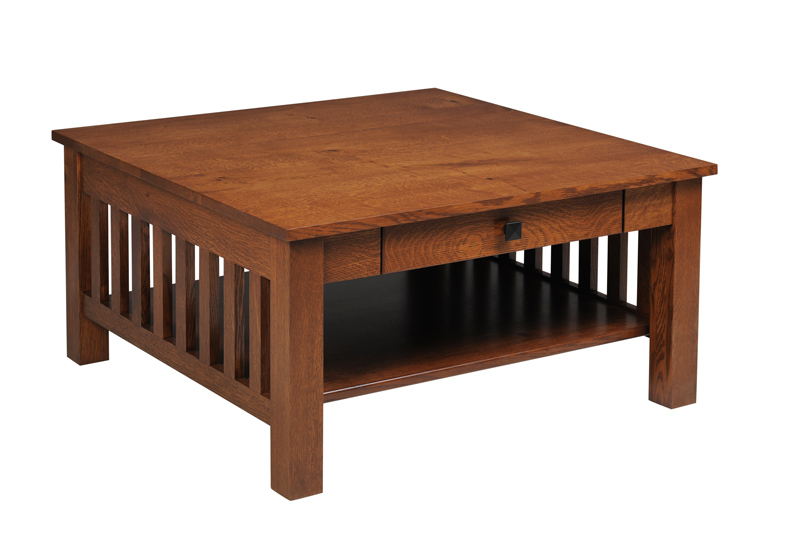 Mission Square Coffee Table with Drawer