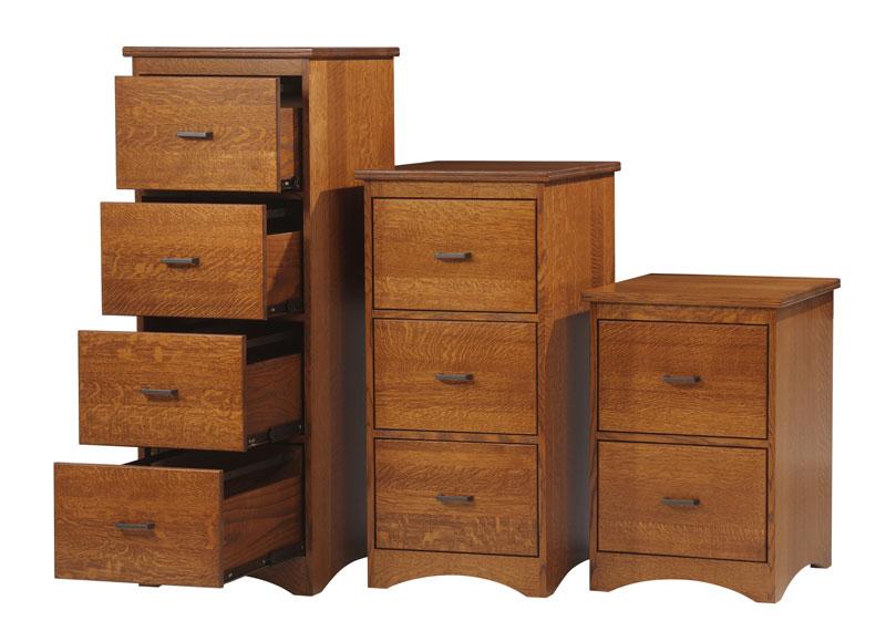 Prairie Mission Filing Cabinets In Quartersawn White Oak