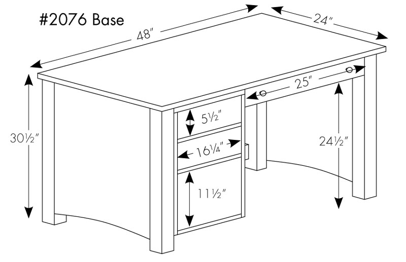 Standard Office Desk Dimensions