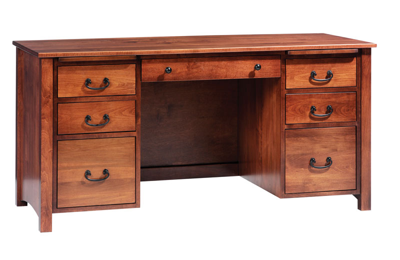 Rivertowne 60 7 Drawer Desk In Brown Maple With Ocs 106 Stain